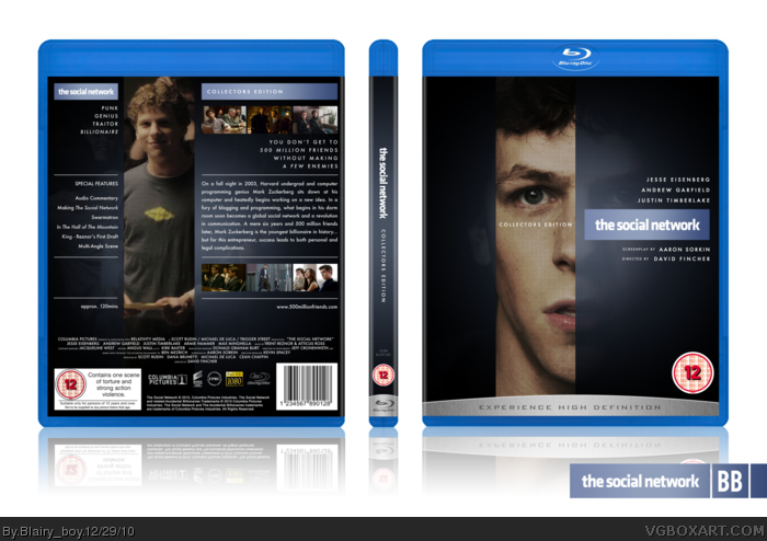 The Social Network box art cover