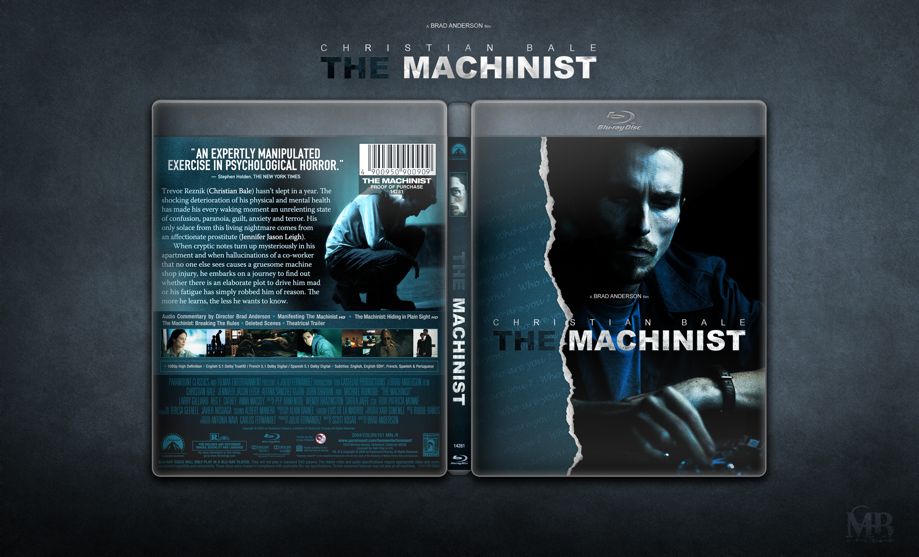 The Machinist box cover