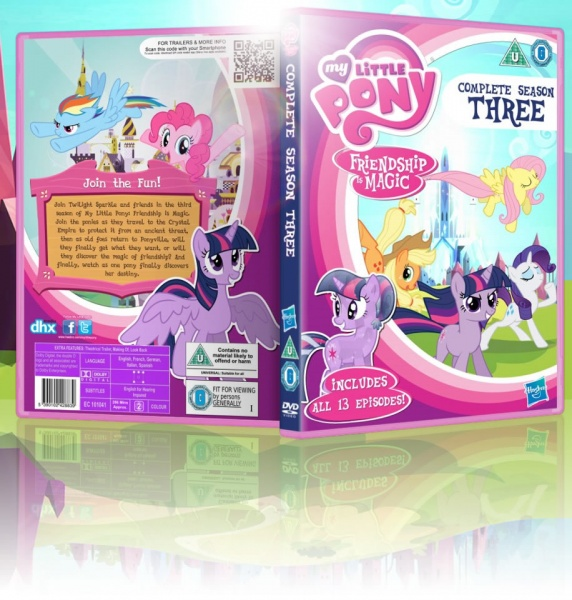 My Little Pony: Friendship is Magic: Season 3 box art cover