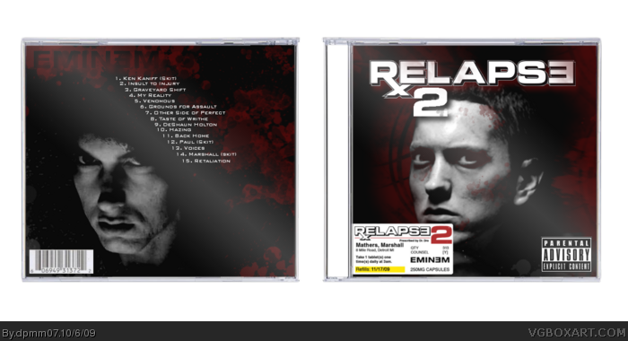 Eminem: Relapse 2 box art cover