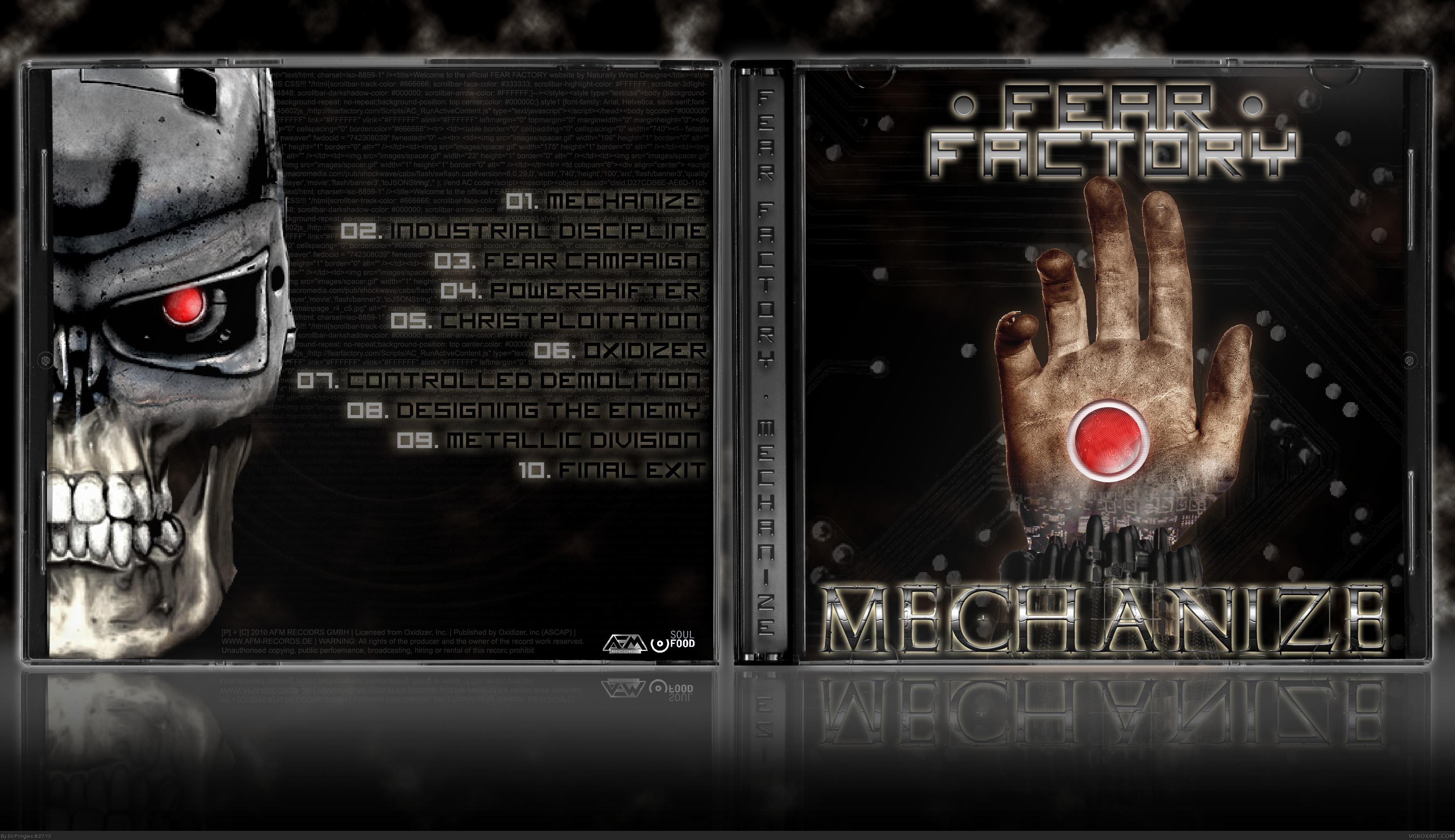 Fear Factory - Mechanize box cover
