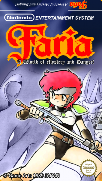 Faria - A World of Mystery and Danger! box cover