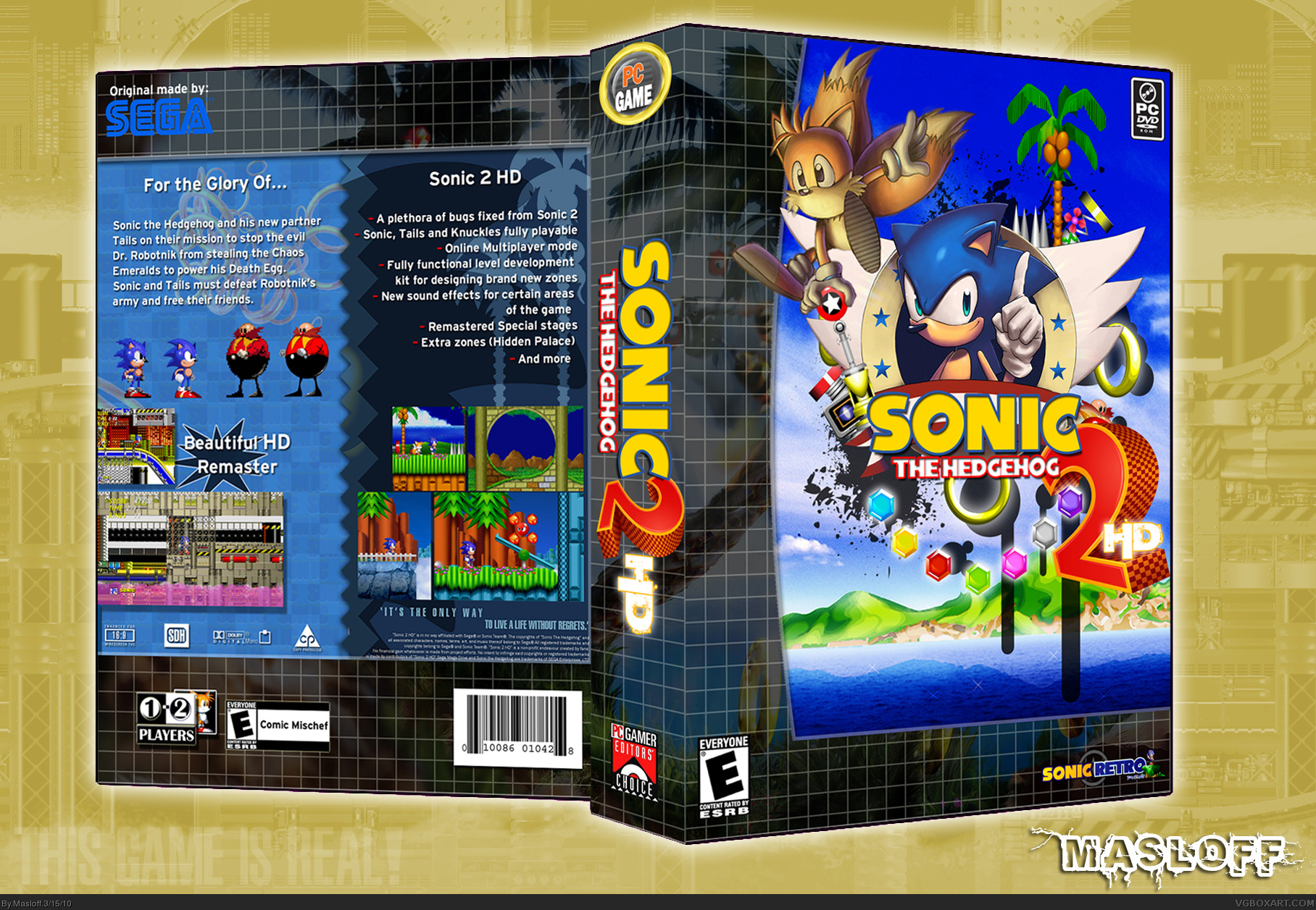 Sonic the Hedgehog 2: HD box cover
