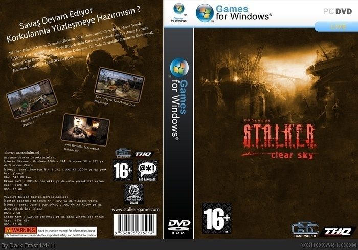 Stalker - Clear Sky (Dark Frost) (Custom) box art cover
