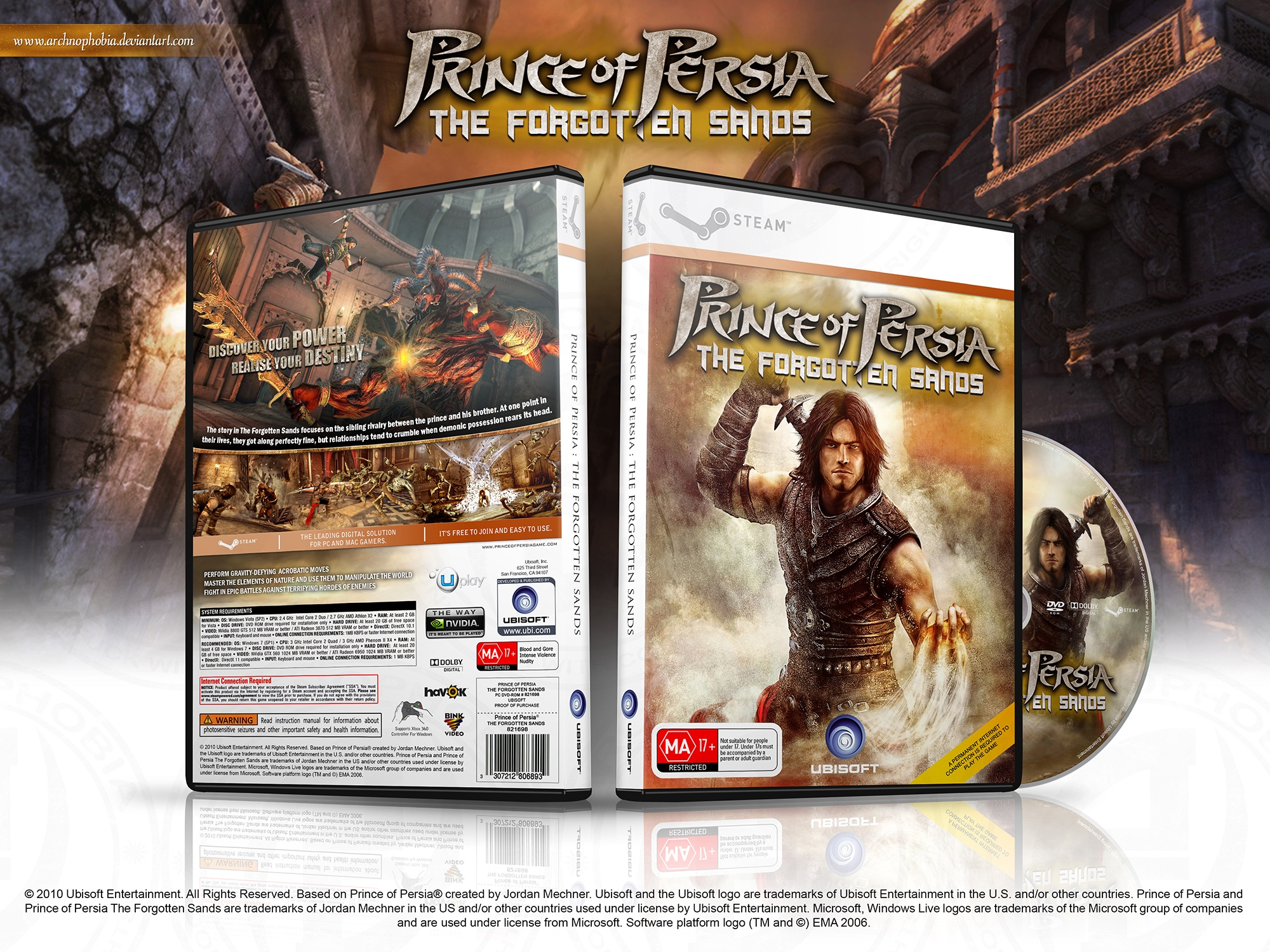 Prince of Persia: The Forgotten Sands box cover