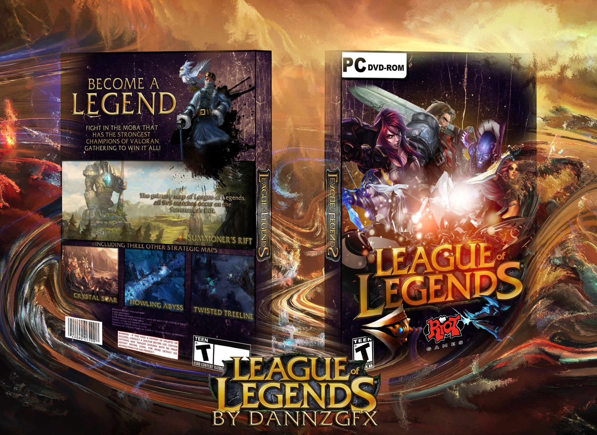 League of Legends box cover