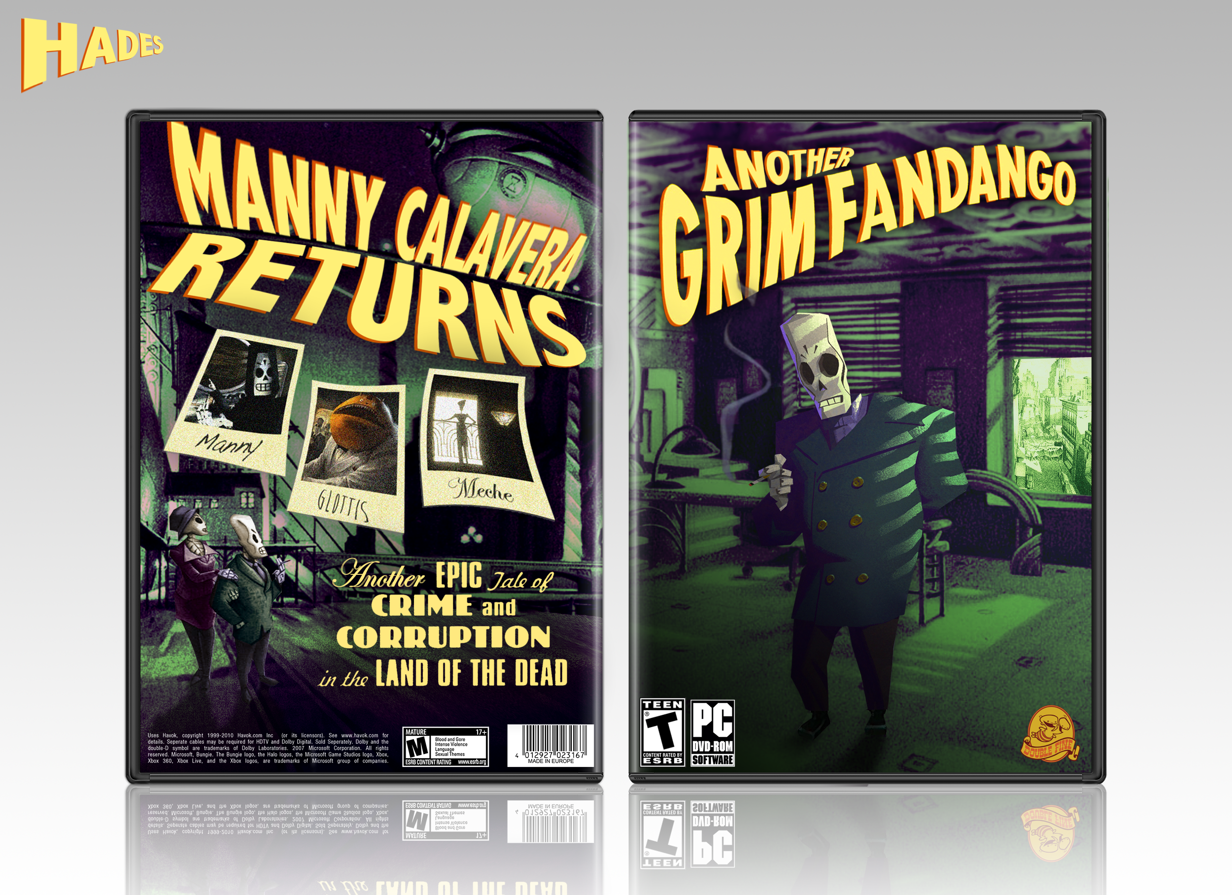 Another Grim Fandango box cover