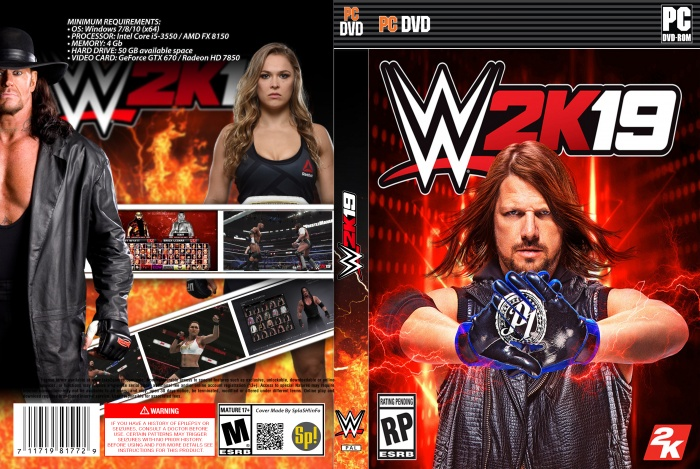 WWE 2K19 box art cover