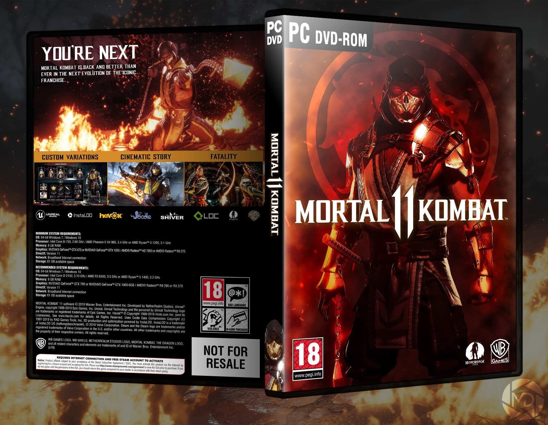 Mortal Kombat 11 box cover