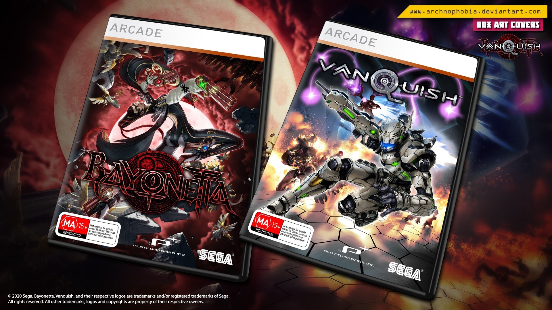 Bayonetta & Vanquish DVD Preview box cover