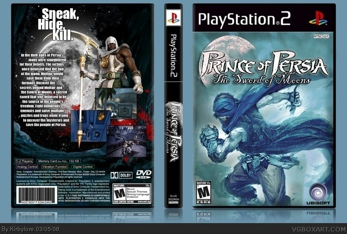 Prince of Persia: The Sword of Moons box art cover