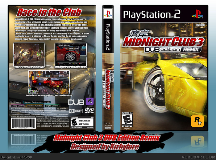 Midnight Club 3: DUB Edition Remix box art cover