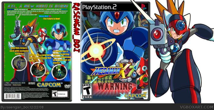 Mega Man x7 box art cover
