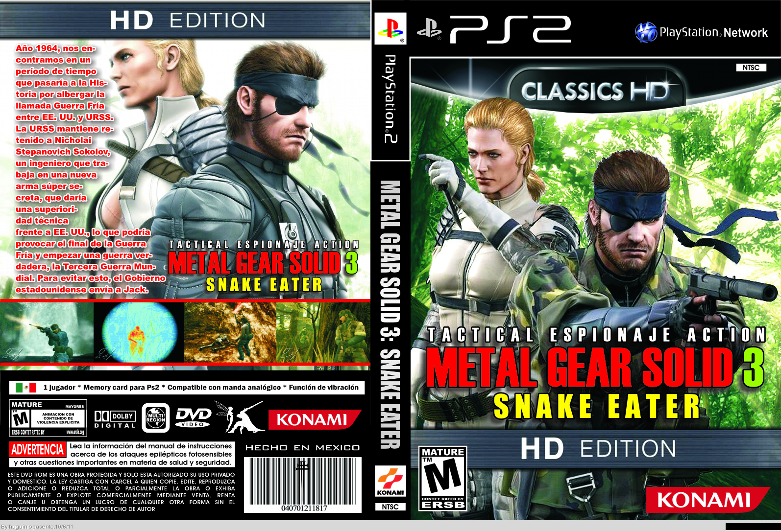 Metal Gear Solid 3: Snake Eater box cover