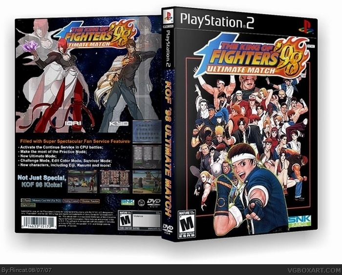 The King of Fighters 98 Ultimate Match box art cover