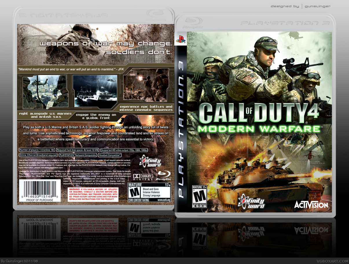 Call of Duty 4: Modern Warfare box cover