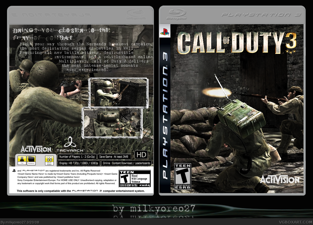 Call of Duty 3 box cover