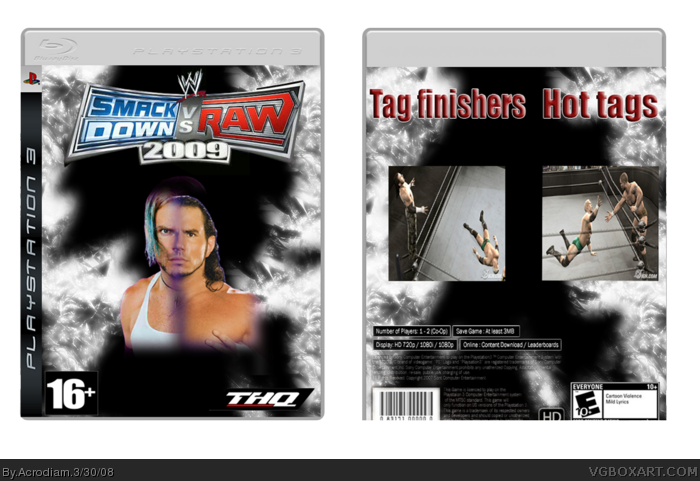 Smackdown vs Raw 2009 box art cover