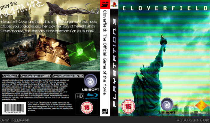 Cloverfield: The Official Game of the Movie box art cover