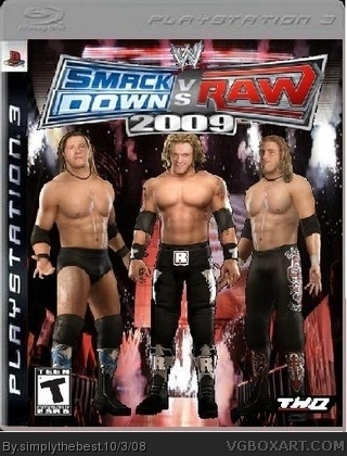 WWE Smackdown! vs. RAW 2009 box cover