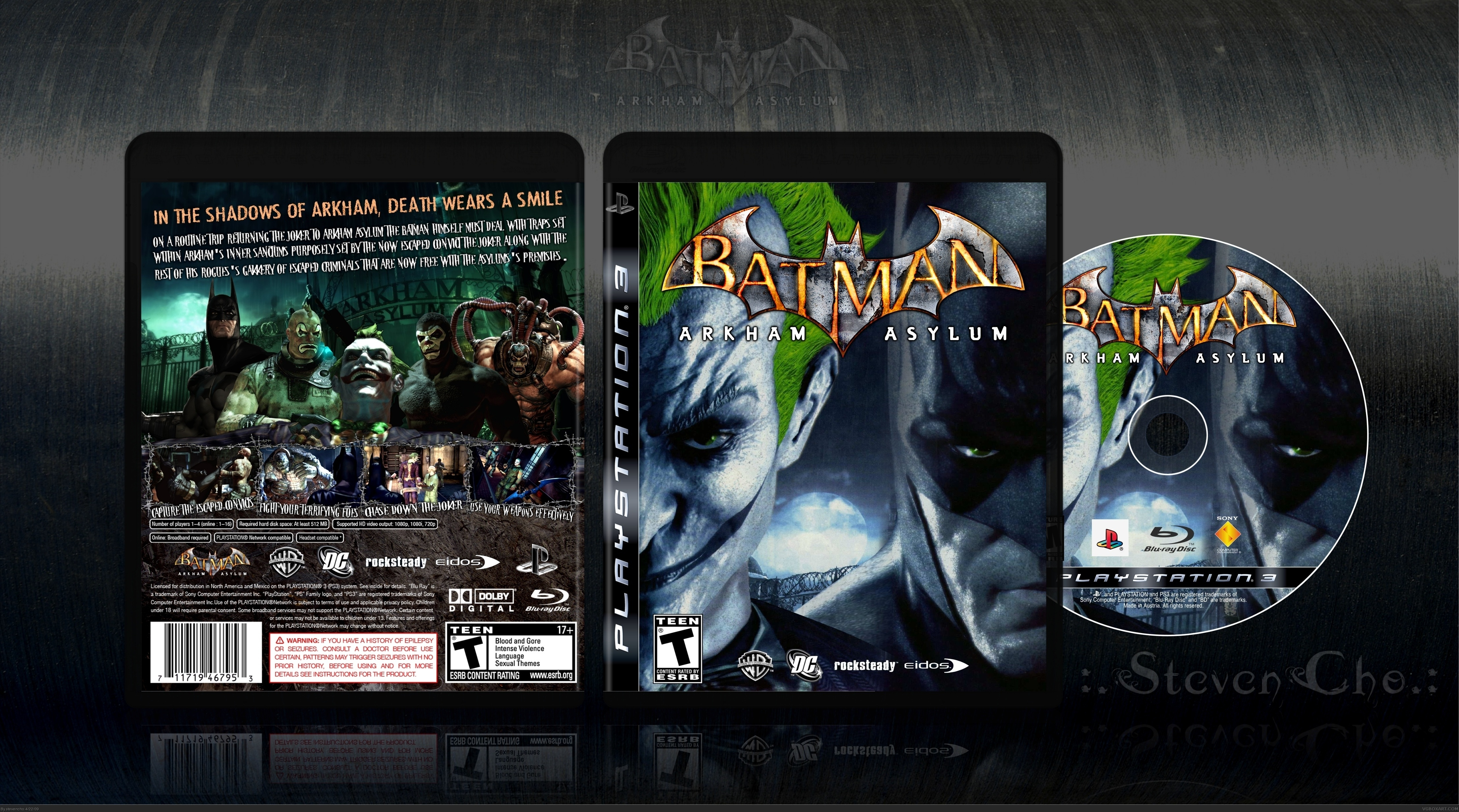 Batman: Arkham Asylum box cover