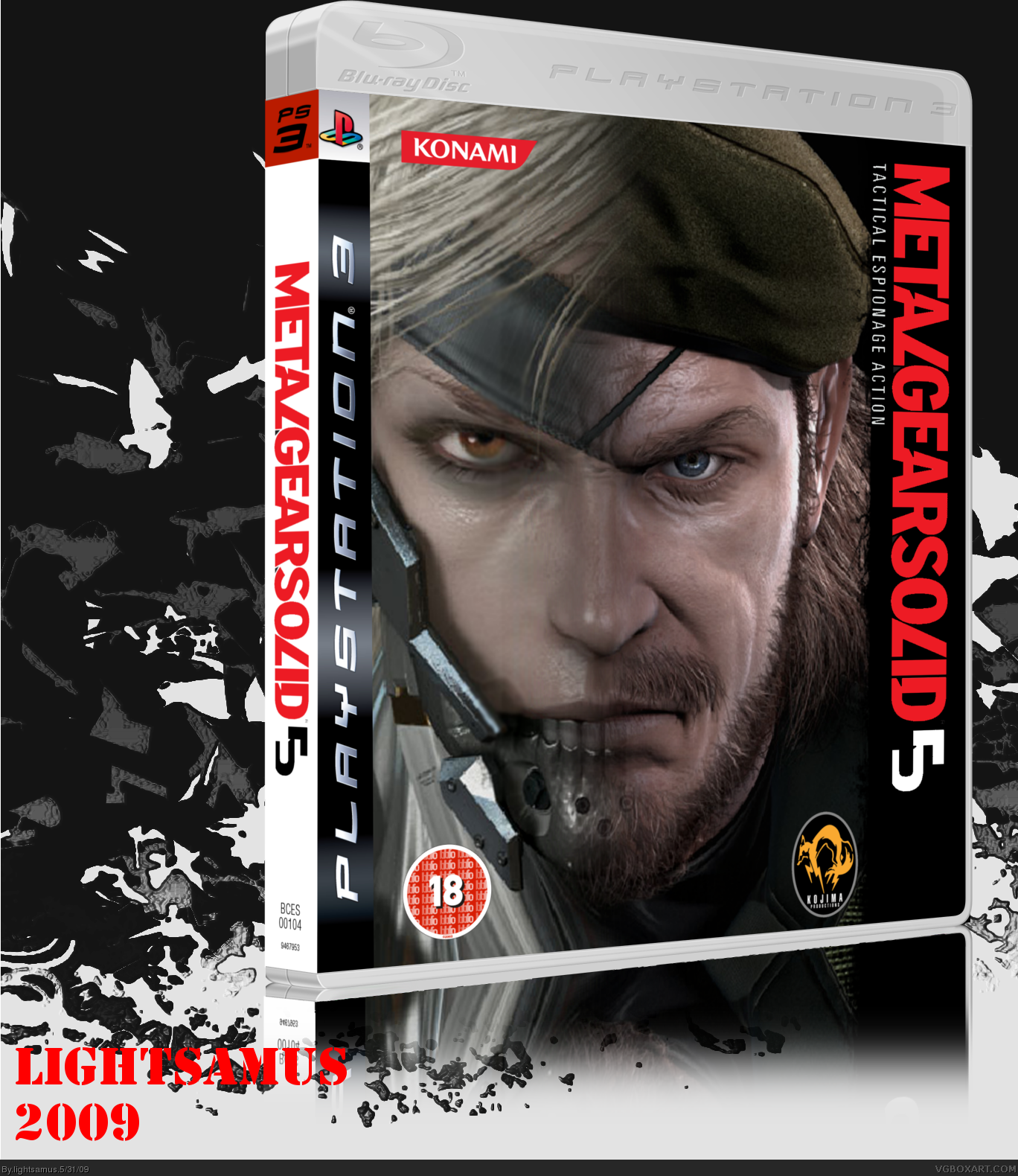 Metal Gear Solid 5 box cover