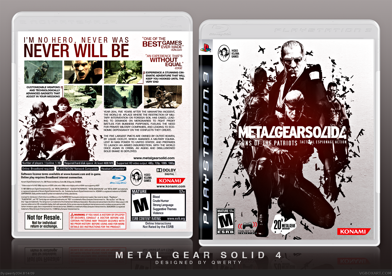 Metal Gear Solid 4: Guns of the Patriots box cover