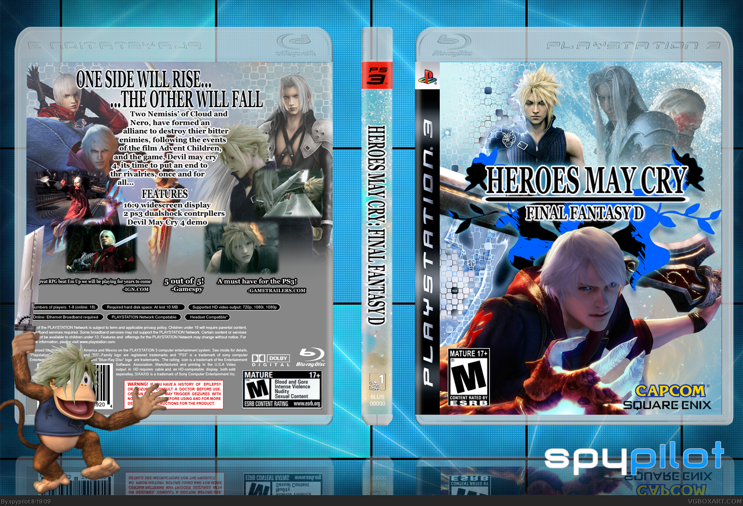 Heroes May Cry: Final Fantasy D box cover