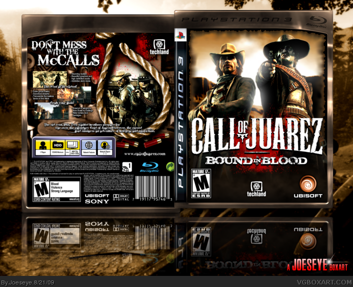 Call of Juarez: Bound in Blood box art cover