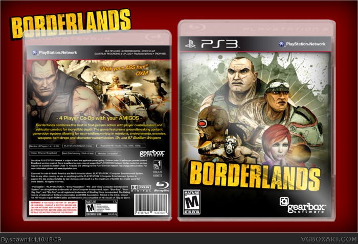 Borderlands box art cover