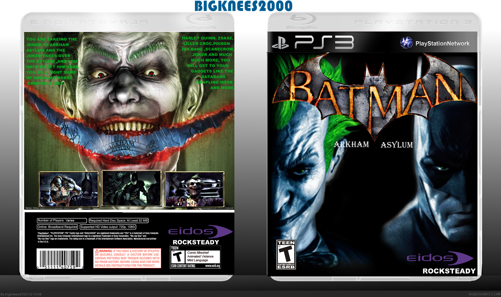 Batman Arkham Asylum box cover