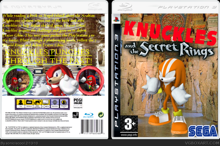 Knuckles and the Secret Rings box art cover
