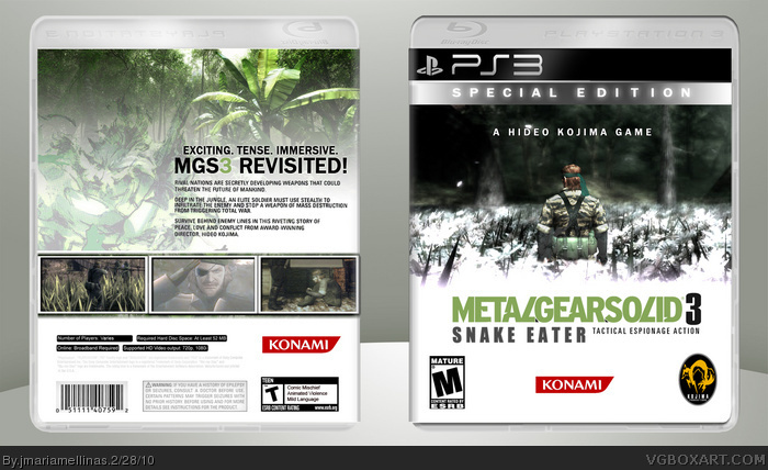 Metal Gear Solid 3: Snake Eater - Special Edition box art cover