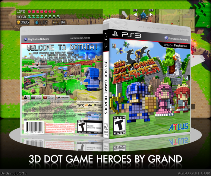 3D Dot Game Heroes box art cover