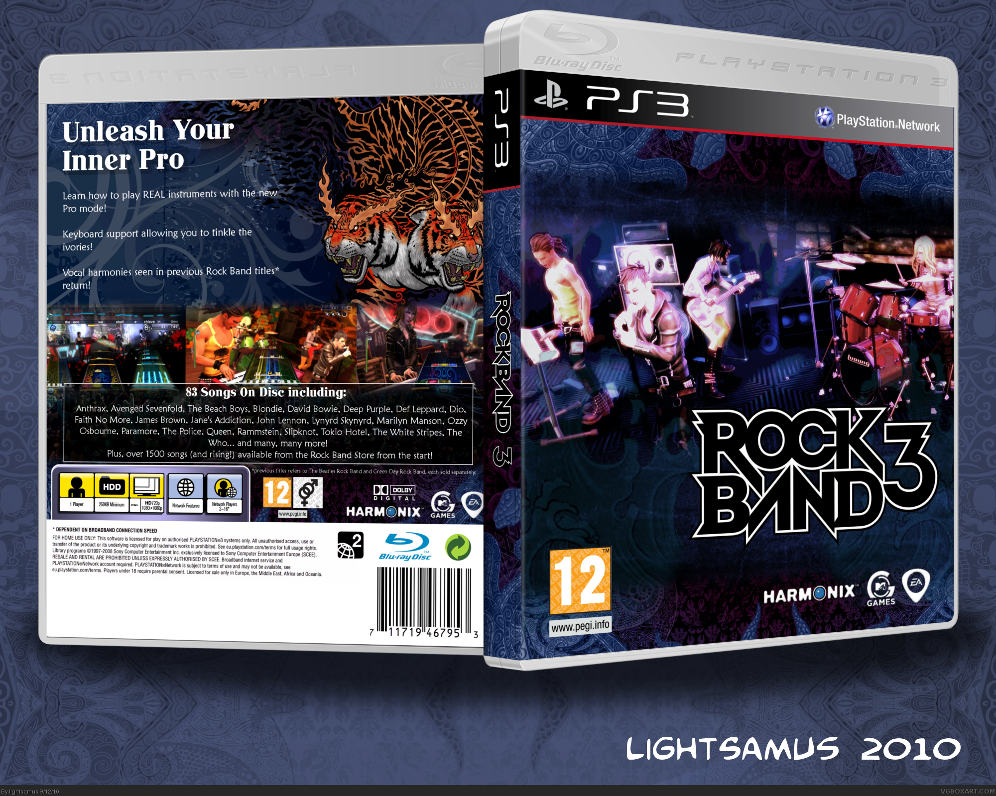 Rock Band 3 box cover