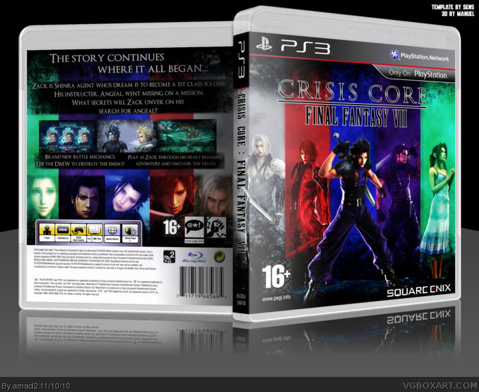 Final Fantasy VII : Crisis Core box art cover