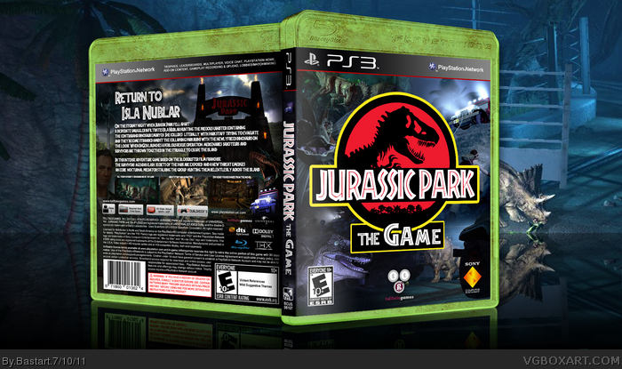 Jurassic Park The Game box art cover
