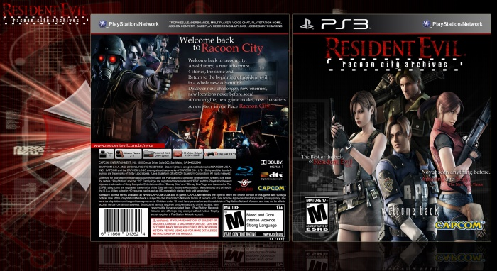 Resident Evil Racoon City Archives box art cover