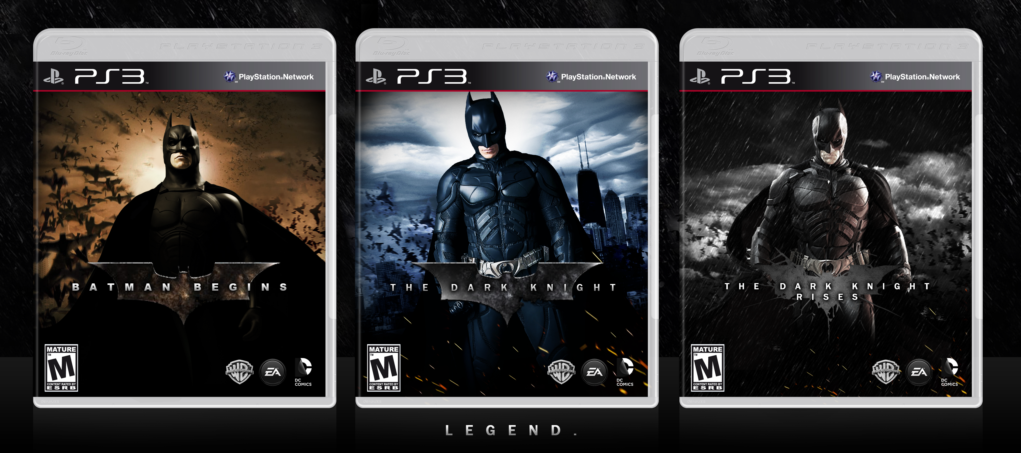 The Dark Knight Trilogy box cover