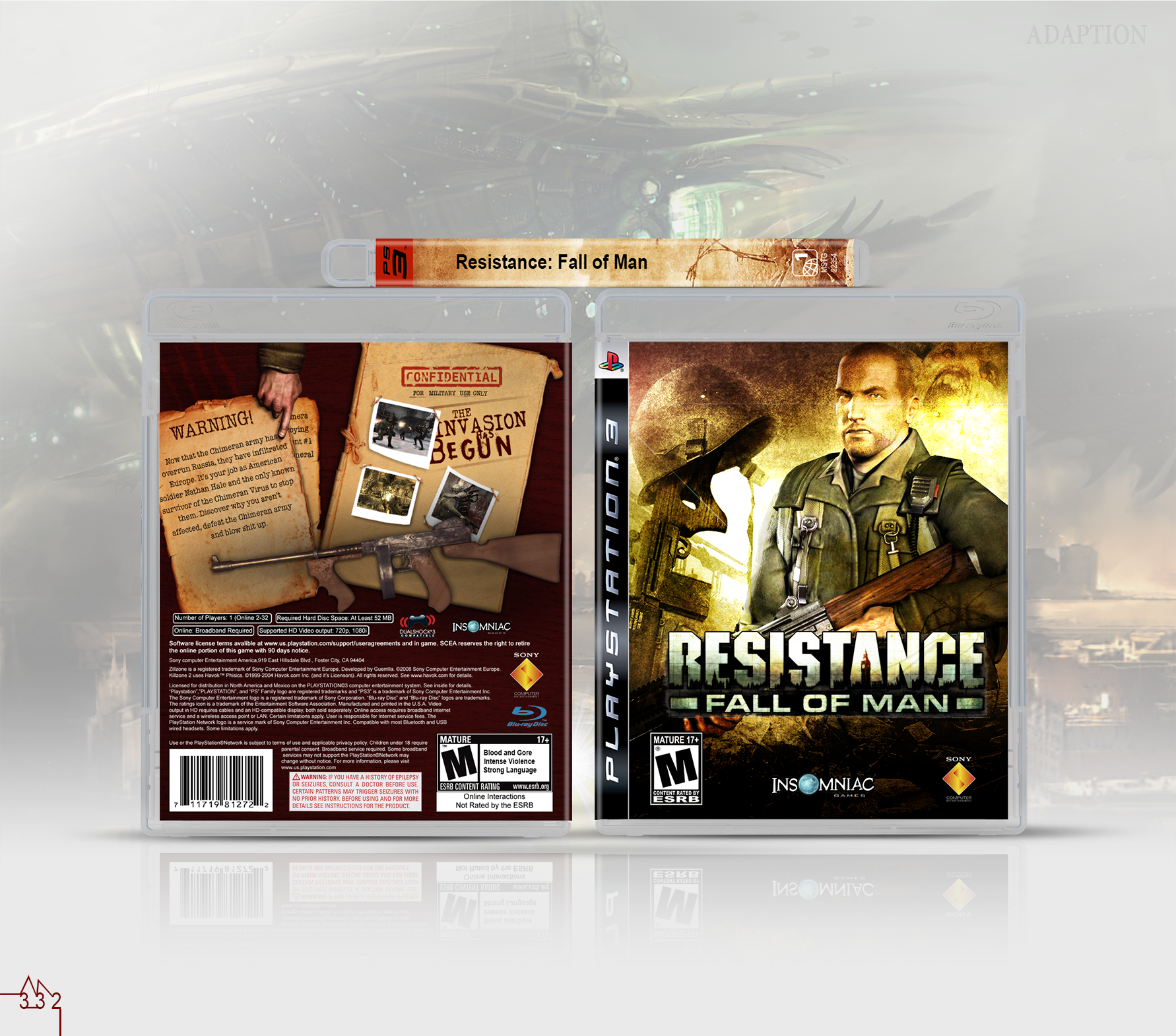 Resistance: Fall of Man box cover