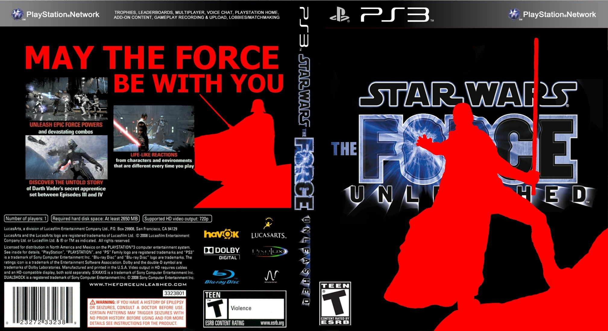 Star Wars: The Force Unleashed box cover