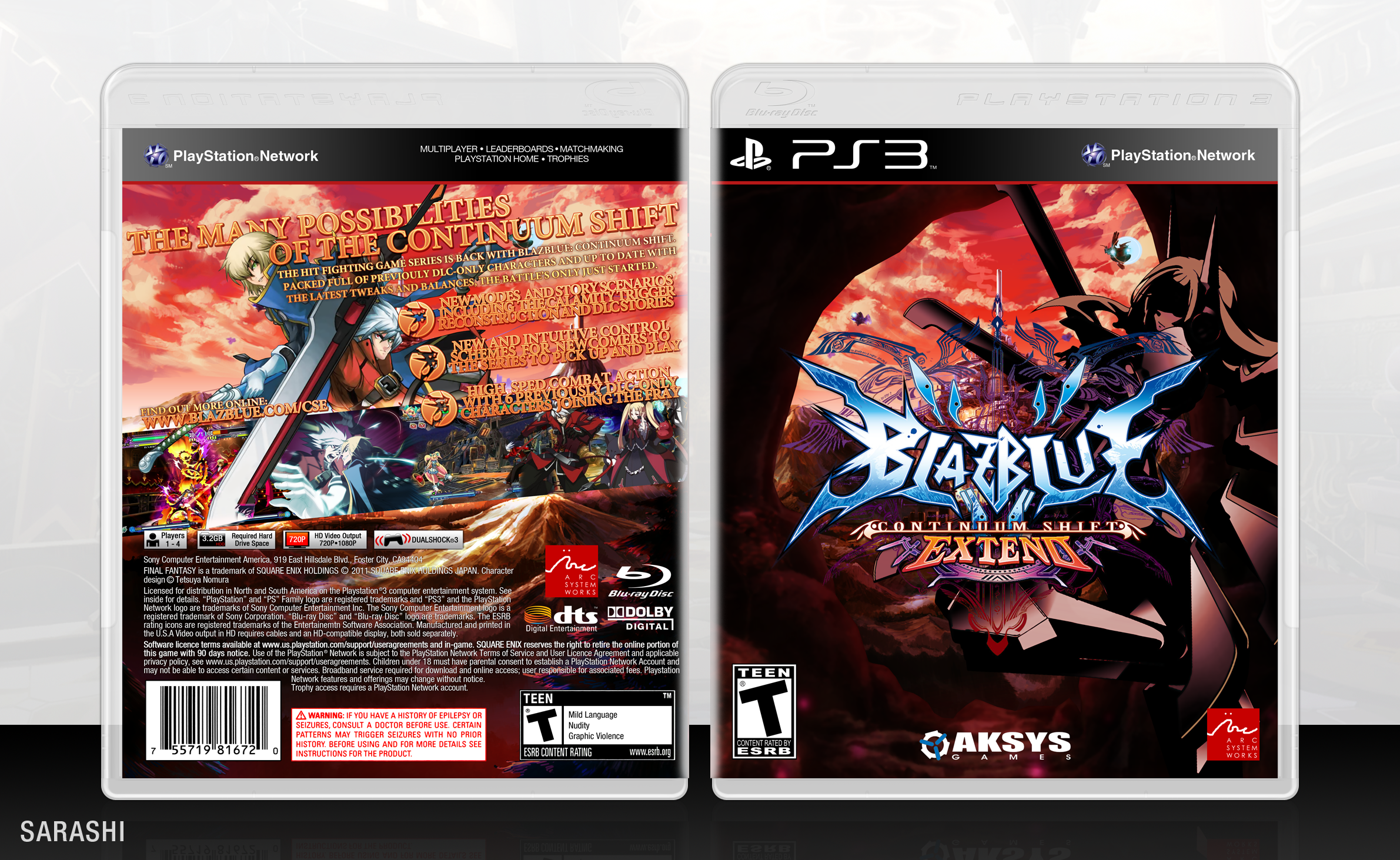 BlazBlue: Continuum Shift Extend box cover