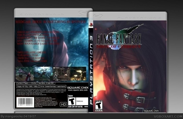 Dirge Of Cerberus box art cover