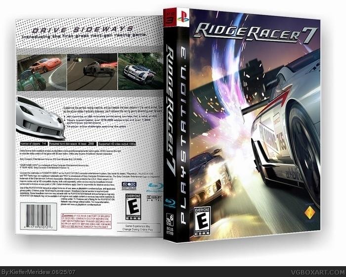 Ridge Racer 7 box art cover
