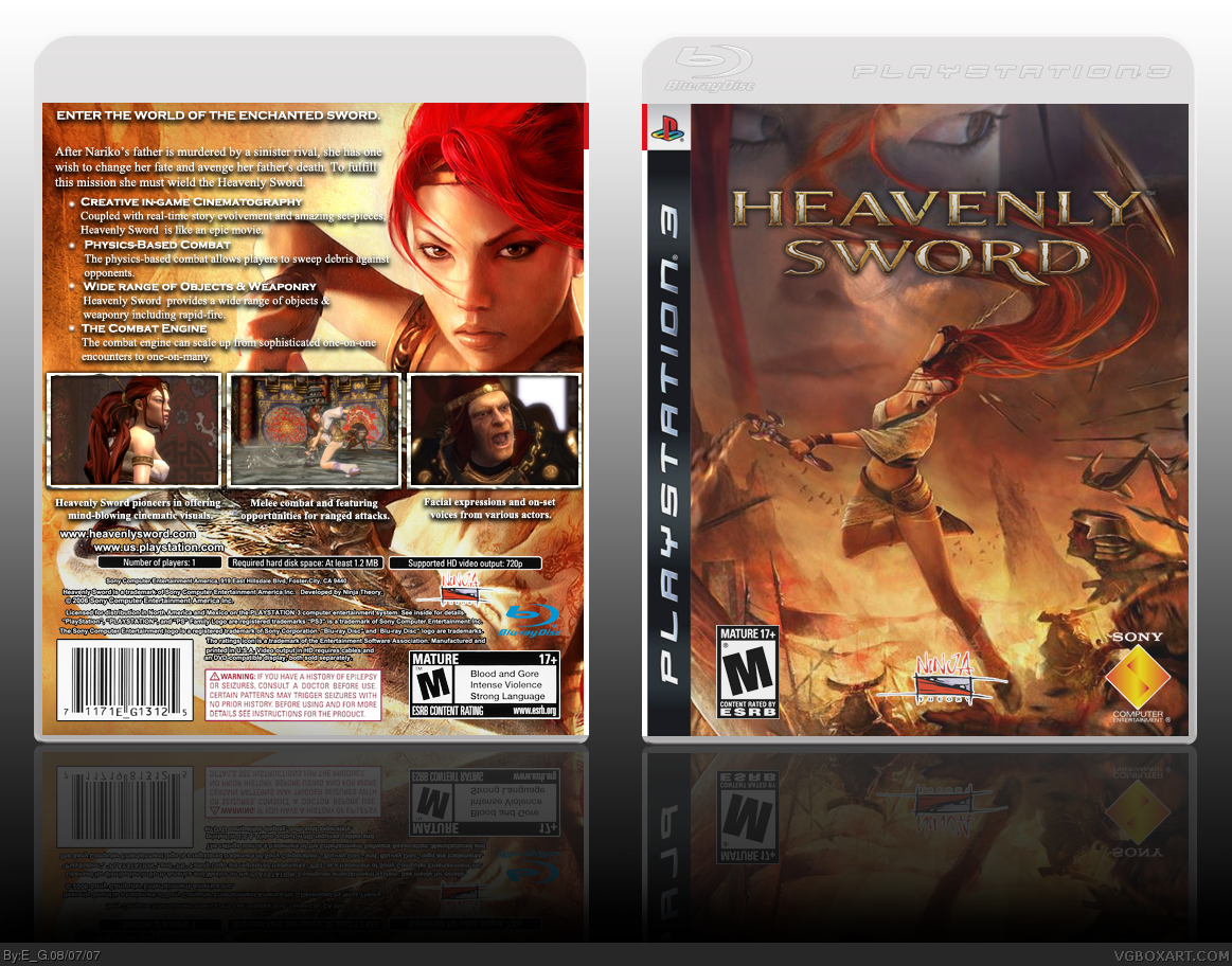 Heavenly Sword box cover