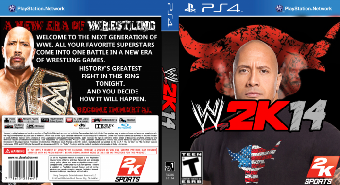 WWE2K14 box art cover