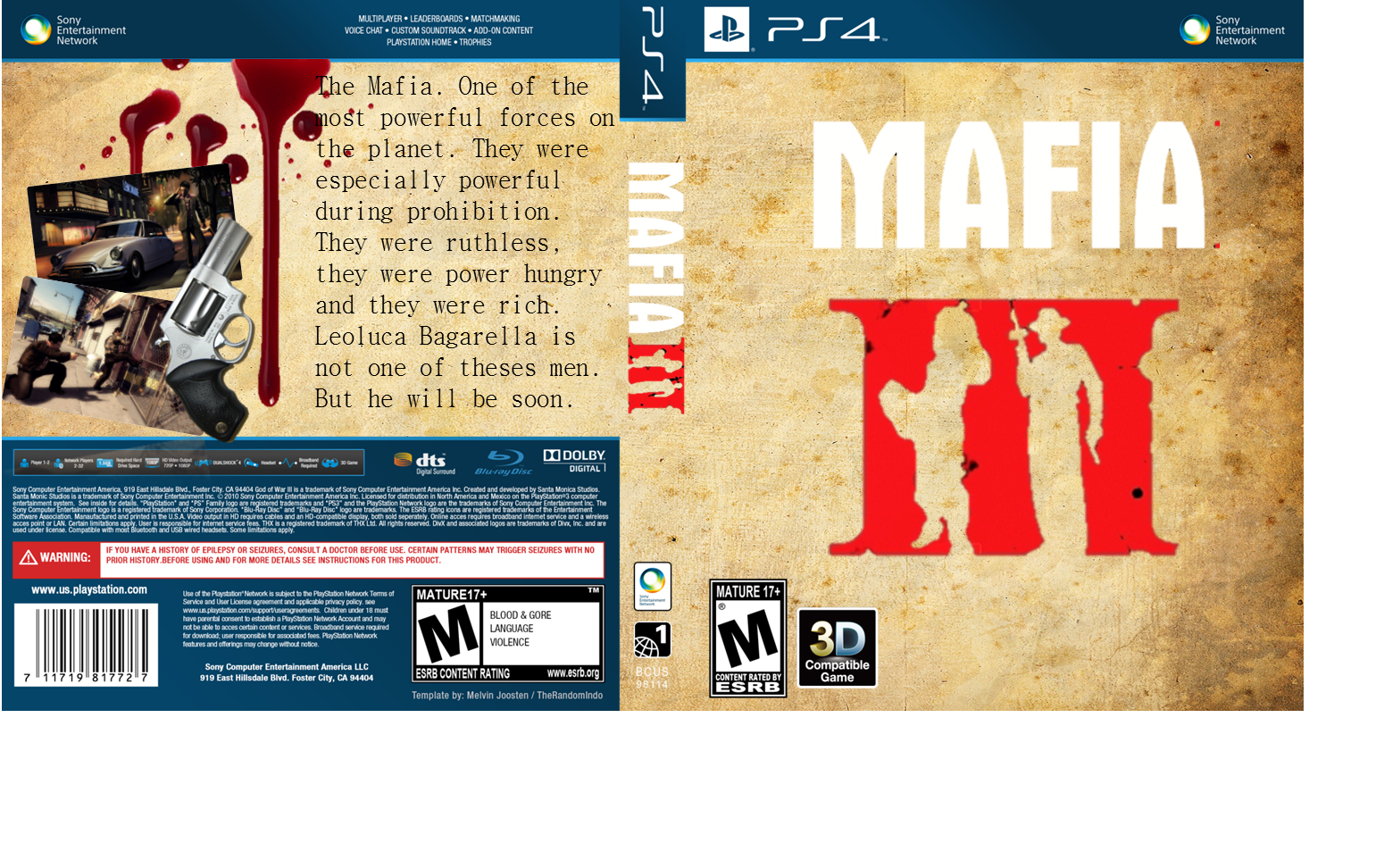 Mafia 3 box cover