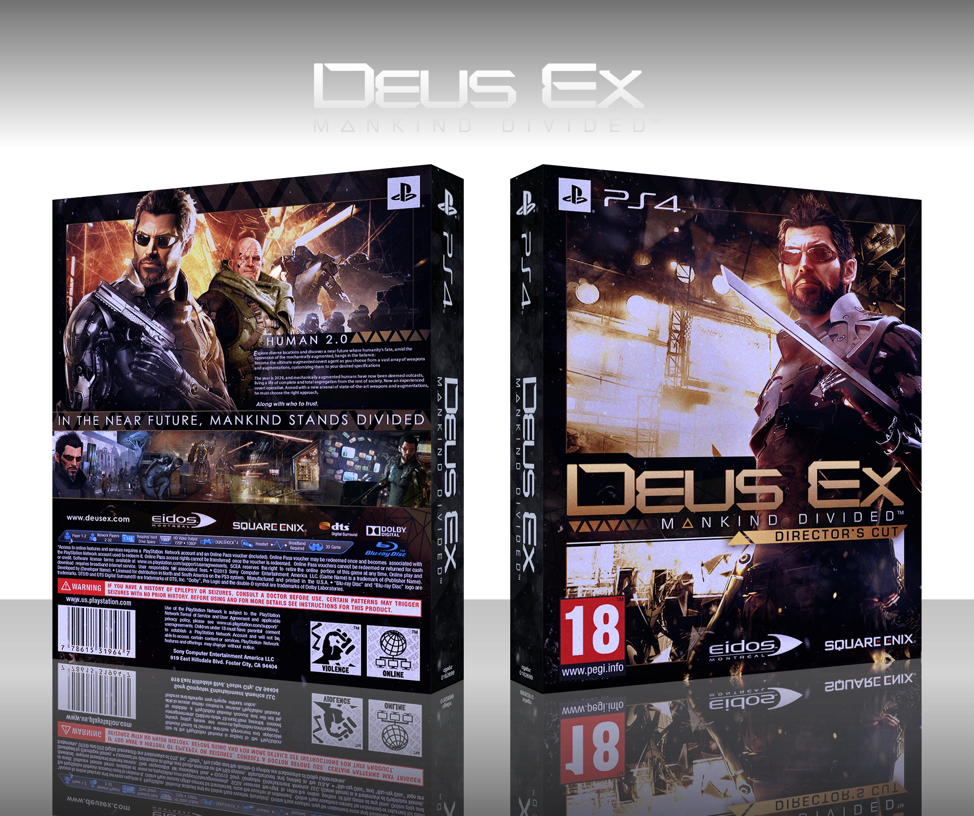 Deus Ex: Mankind Divided box cover