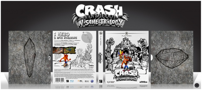 Crash Bandicoot: N. Sane Trilogy box art cover