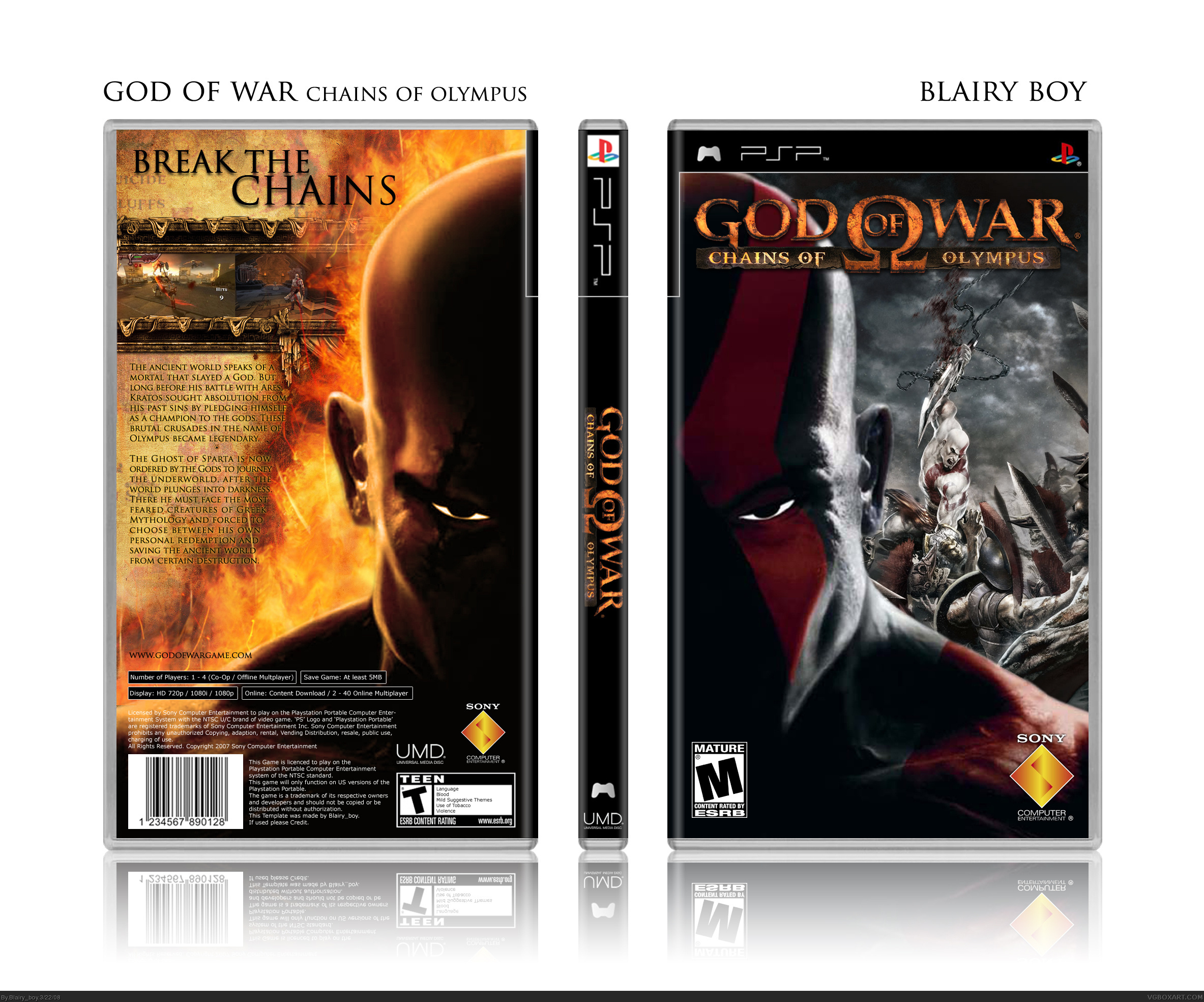 God of War: Chains of Olympus box cover
